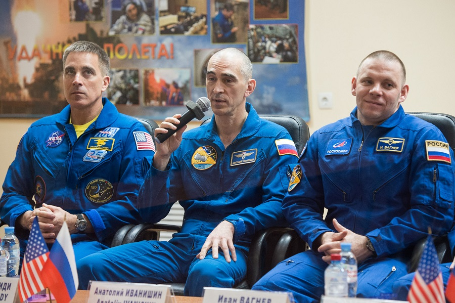 WATCH | Three-man crew blasts off for ISS: NASA TV - DispatchLIVE