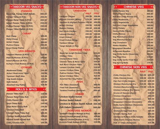 S.K Rasoi menu 3