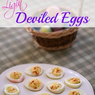 Light Deviled Eggs