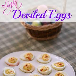 Light Deviled Eggs.