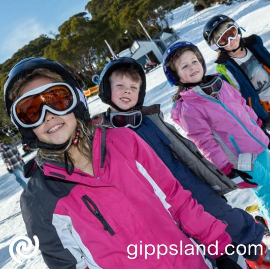 Mt Baw Baw winter kids ski lessons