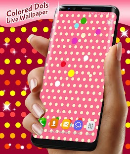 Colored Dots Live Wallpaper - náhled