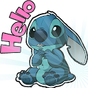 Cute Blue Koala Stitch Stickers for WhatsApp 1.0