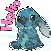 Cute Blue Koala Stitch Stickers for WhatsApp