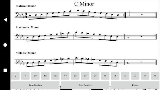 Bass Guitar Minor Scales- screenshot thumbnail