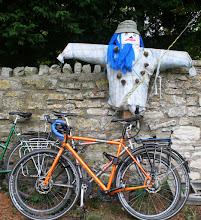 Photo: Scarecrow & bicycles