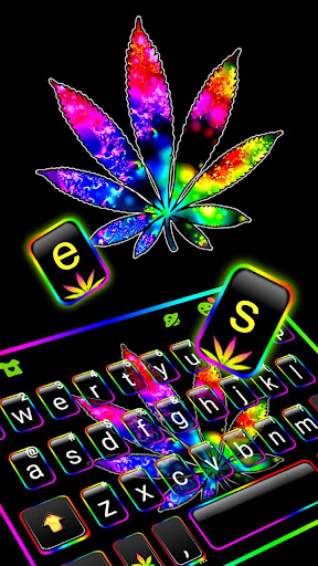Colorful Weed Keyboard Theme ss2