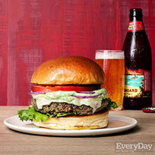 Eat-Your-Greens Burgers with Avocado Ranch Dressing