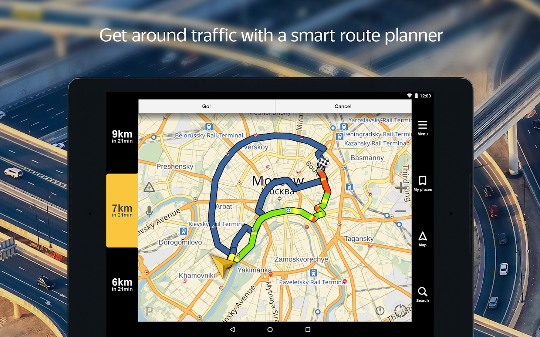 Screenshots of Yandex.Navigator for iPhone