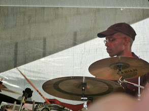 Photo: Rudy Royston with Rudresh Mahanthappa CP Project
