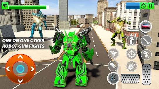 Real Robot Car Transform War : Mega Robot Games 4