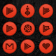 Wooden Radial Red Icons Download on Windows