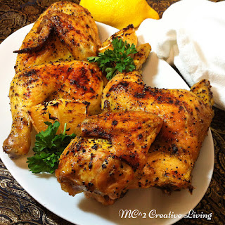 Lemon Pepper Roasted Chicken.