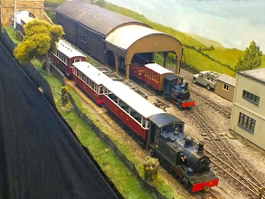 Photo: 011 Same area, opposite angle, different trains! Hunslet 0-4-2T No.2 Elmgate brings an empty tourist train into Elmgate whilst small 0-4-0T Sula prepares the workman's train to go to the processing plant ready to take the staff home at the end of the day's work .