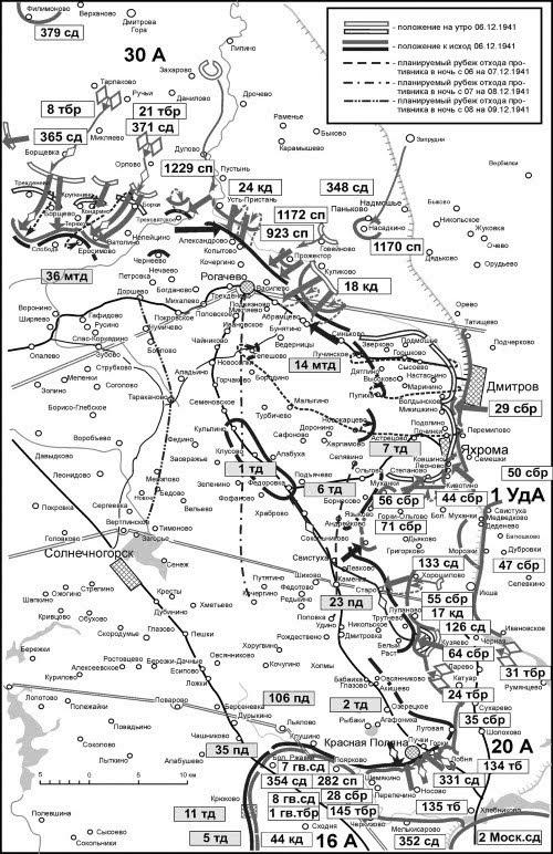Положение на правом фланге Западного фронта 06 декабря 1941г.