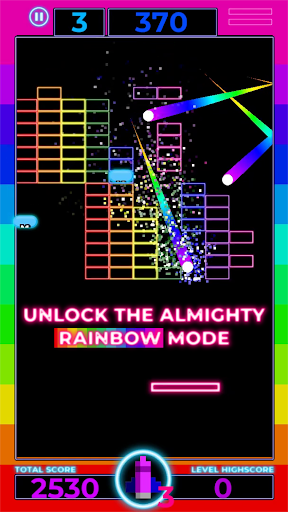 Brick Breaker: Neon Challenge screenshot 2