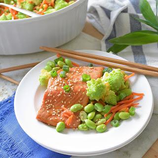 Sesame Ginger Salmon and Vegetables