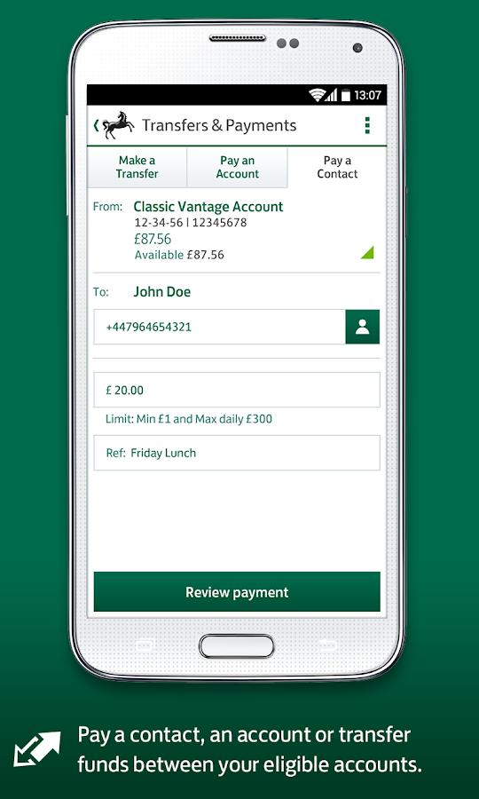 Lloyds Bank Mobile Banking - screenshot