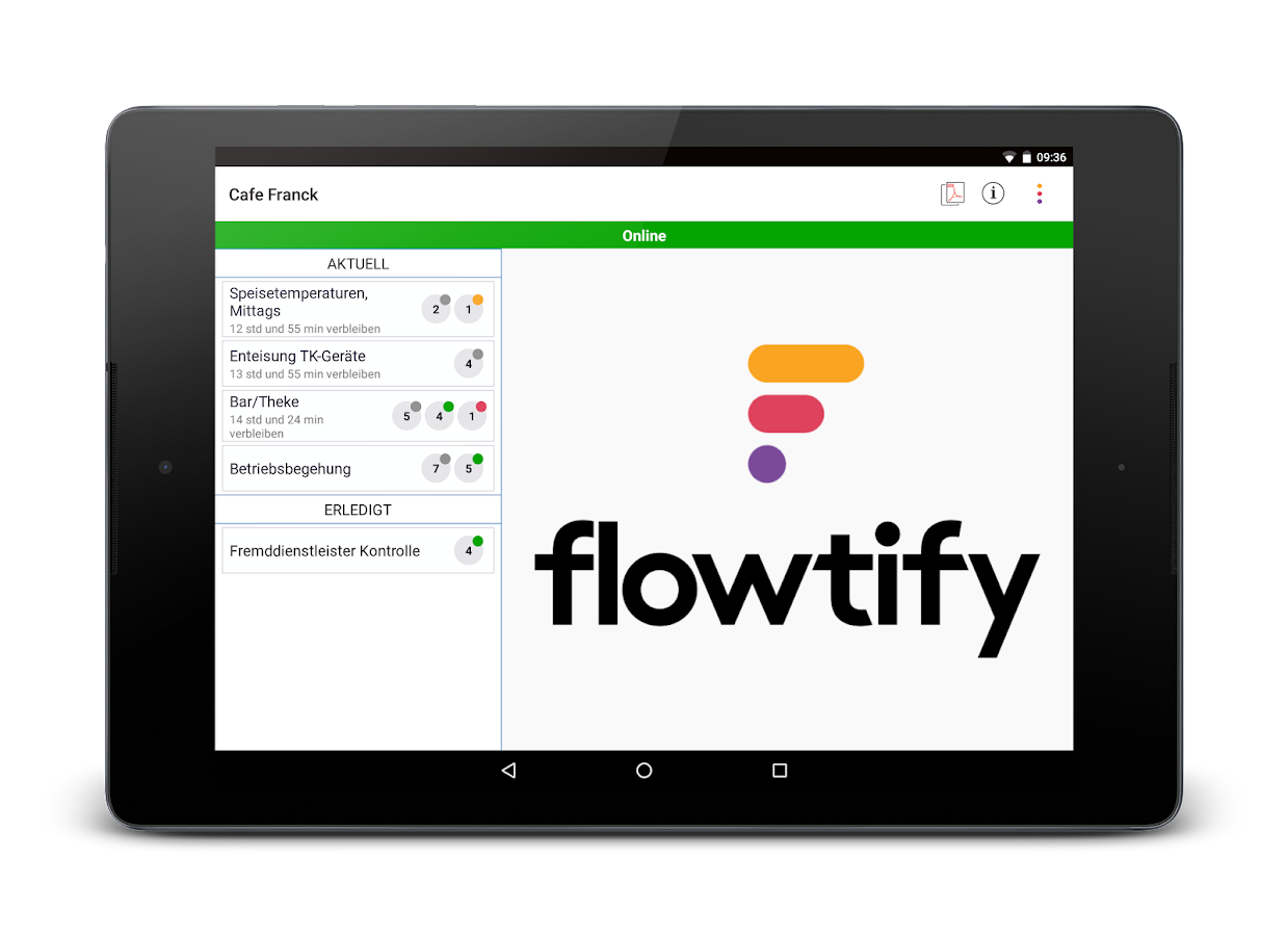 Flowtify – Screenshot