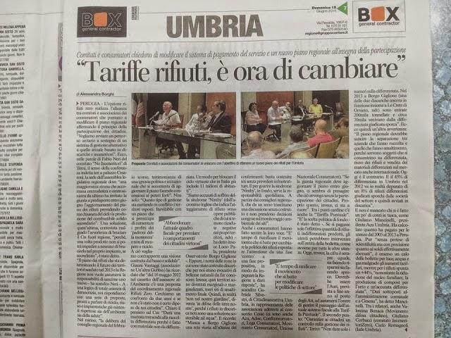 CRURZ: PER UN NUOVO PIANO REGIONALE - Confererenza Stampa - Sabato 14 giugno 2014