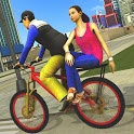 BMX Bicycle Taxi Driving City Passenger Simulator icon