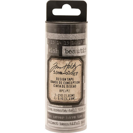Tim Holtz Idea-0logy Design Tape 8/Pkg - Chatter