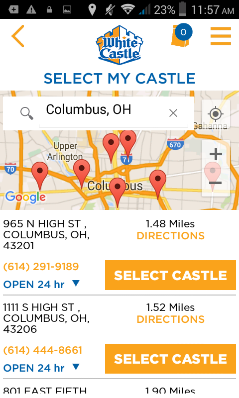 White Castle Online Ordering- screenshot