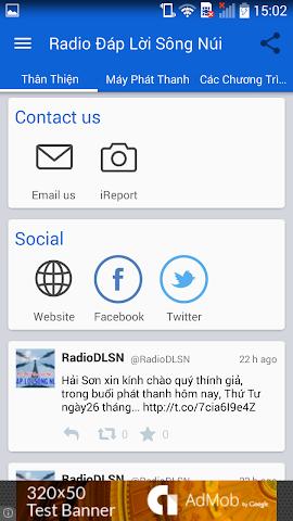android Radio Đáp Lời Sông Núi Screenshot 2
