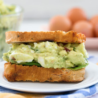 Avocado Egg Salad with Spinach.
