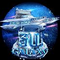 3D Galaxy Spaceship Theme icon