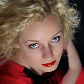 May I? by Renata Apanaviciene - People Portraits of Women ( red, girl, pwc90: lady in red, women, lady )