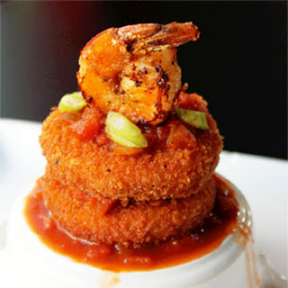 Shrimp and Grit Cakes with Creole Sauce