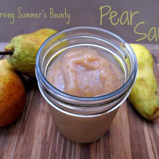 Sugar Free Pear Sauce