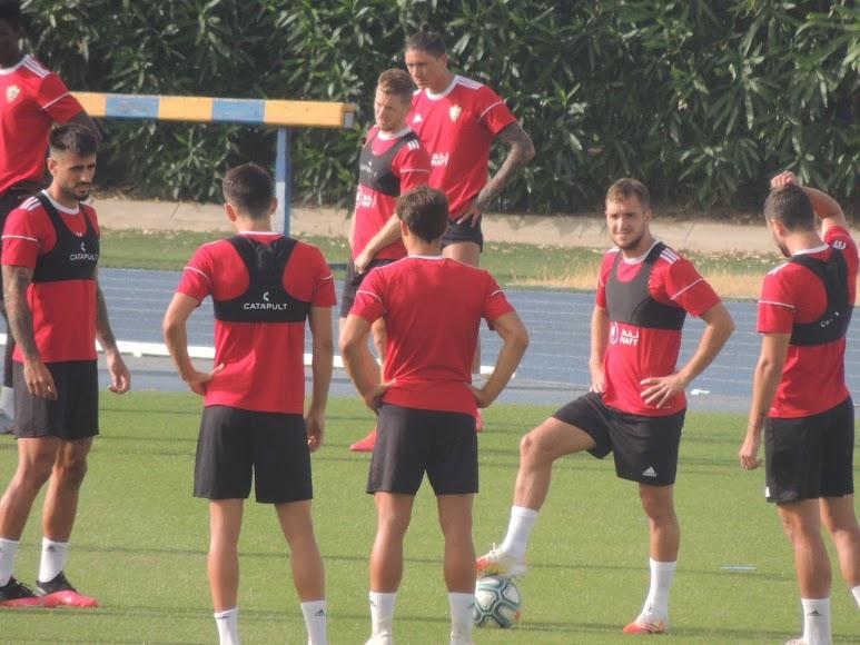 Un grupo de futbolistas.