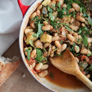 Vegan White Bean Cassoulet with Garlic Breadcrumbs