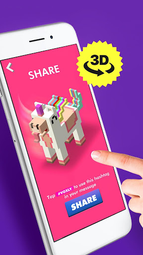 Voxly - Color by Number 3D, Unicorn pixel art app (apk) free download for Android/PC/Windows screenshot