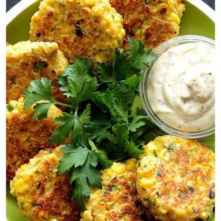 Vegan Corn Fritters.