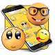 Emoji cute yellow face expression theme apk