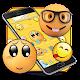 Emoji cute yellow face expression theme apk