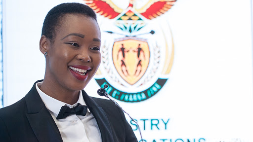Communications and digital technologies minister Stella Ndabeni-Abrahams.