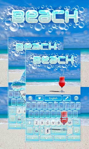 Beach GO Keyboard Theme