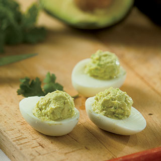 Avocado Lime Deviled Eggs By Rachel Bertone - April 14, 2014