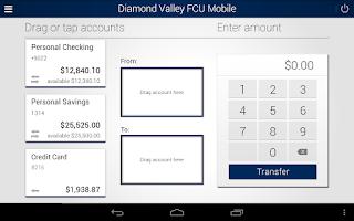 Screenshot of Diamond Valley FCU Mobile