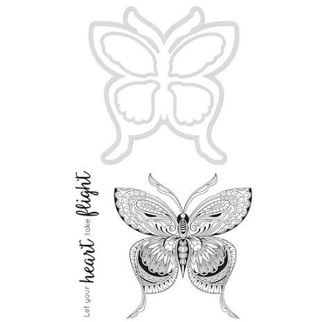 Kaisercraft Dies & Stamps - Butterfly UTGÅENDE