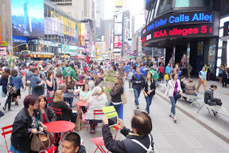 Photo: Times Square is full of people too.