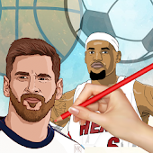 Drawing Basketball & Football Players 3D