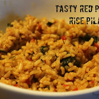 Tasty Spicy Red Pepper Rice Pilaf
