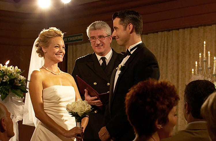 Princess Cruises offers three varieties of wedding packages, including the option of being married at sea by the ship's captain. (Yes, it's legal!)