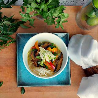 Thai Inspired Coconut Vegetable Soup.