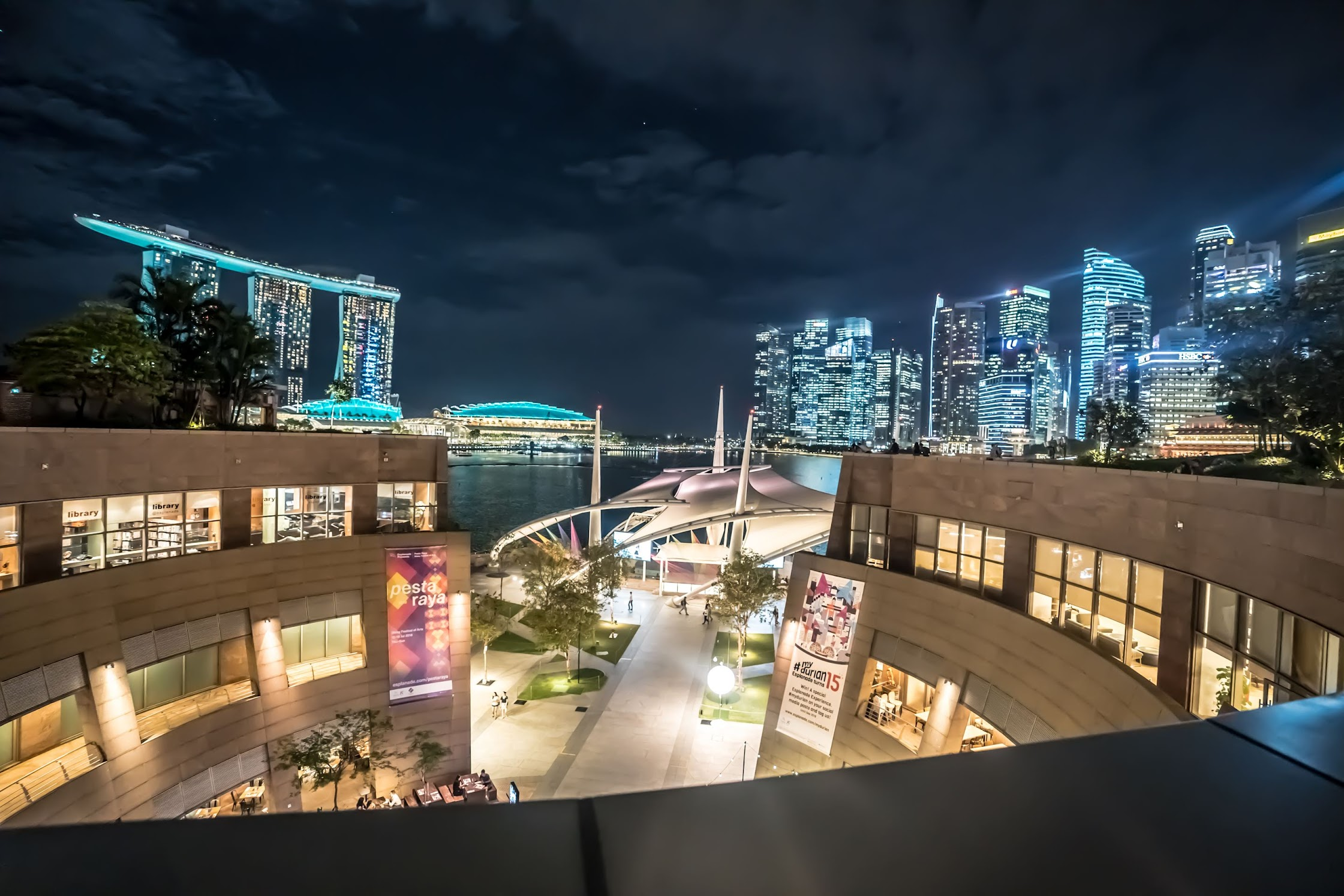 シンガポール エスプラネード (Esplanade) 展望台1